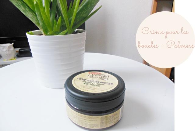 Crème pour les boucles de chez Palmers